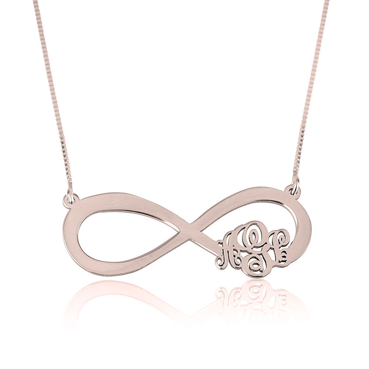 Infinity Monogram Necklace 3