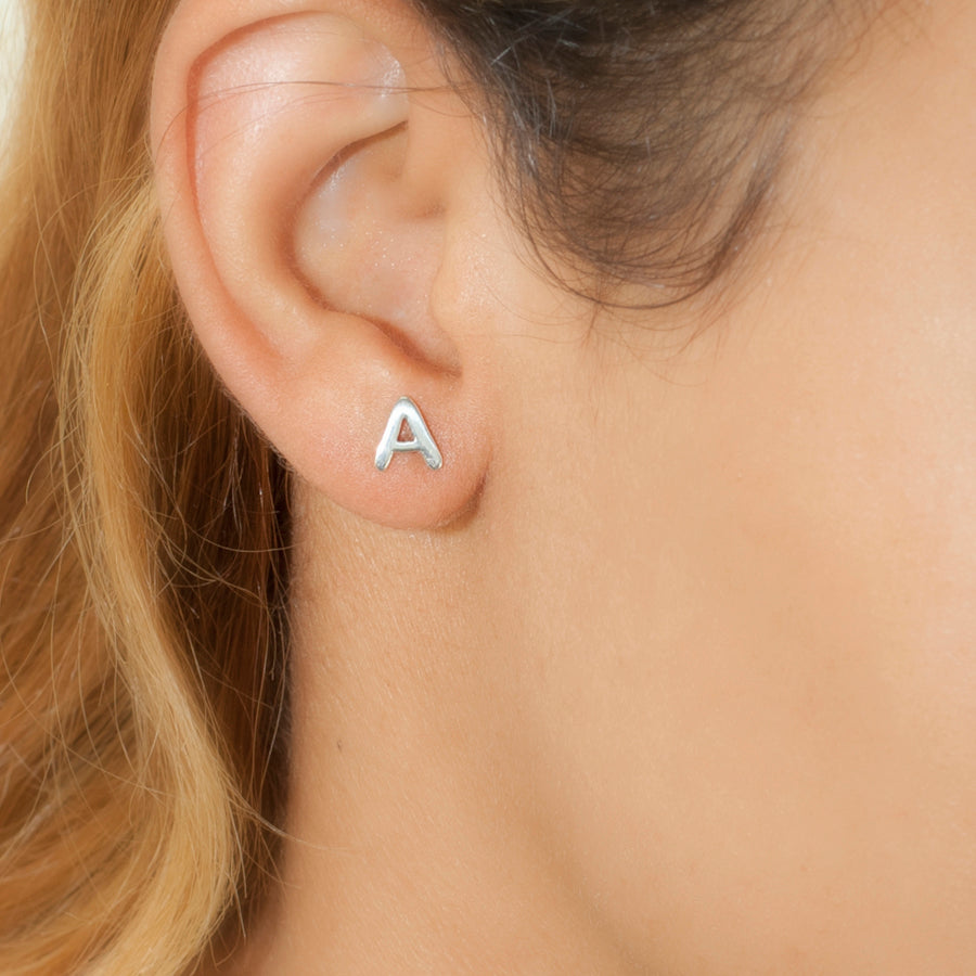 gold initial earrings com mini zoelev img stud