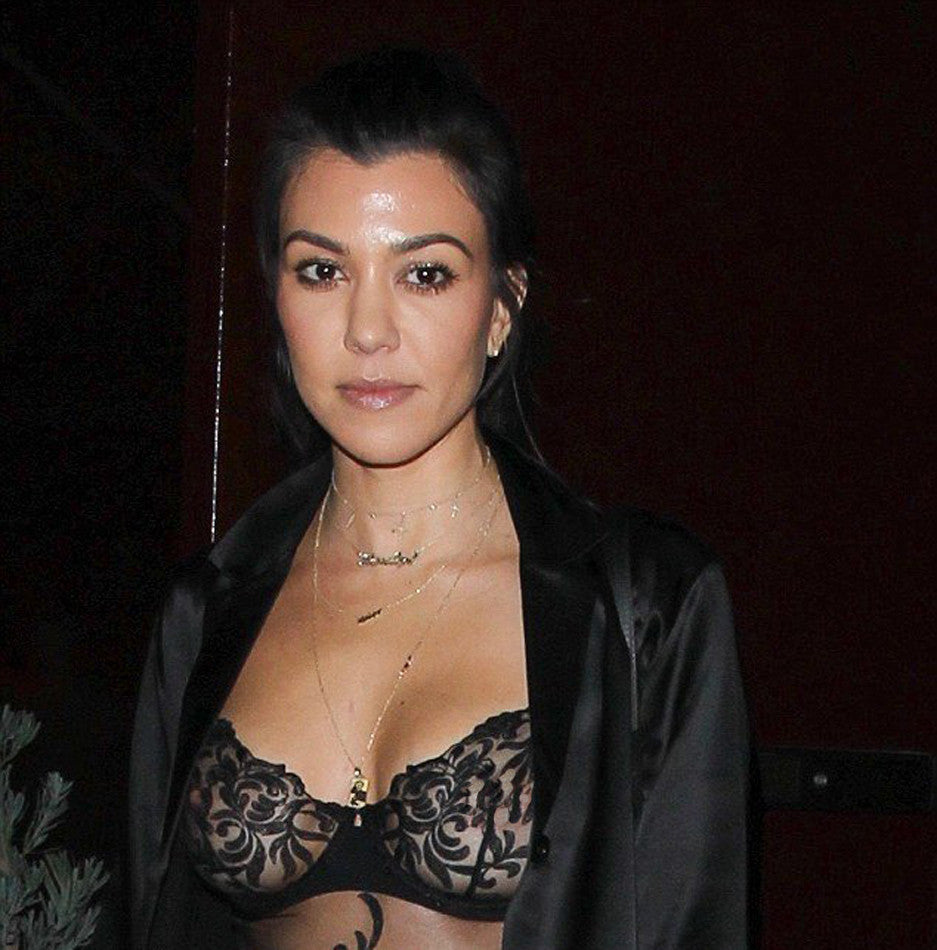 Kourtney Kardashian Photo Necklace
