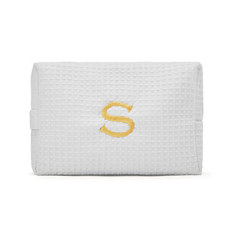 Large Monogrammed Cosmetic Bag