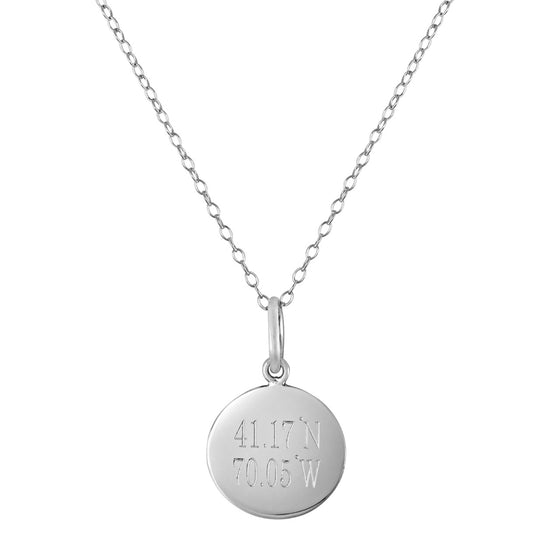 Personalized Round Coordinates Necklace