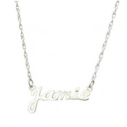 Petite Name Plate Necklace