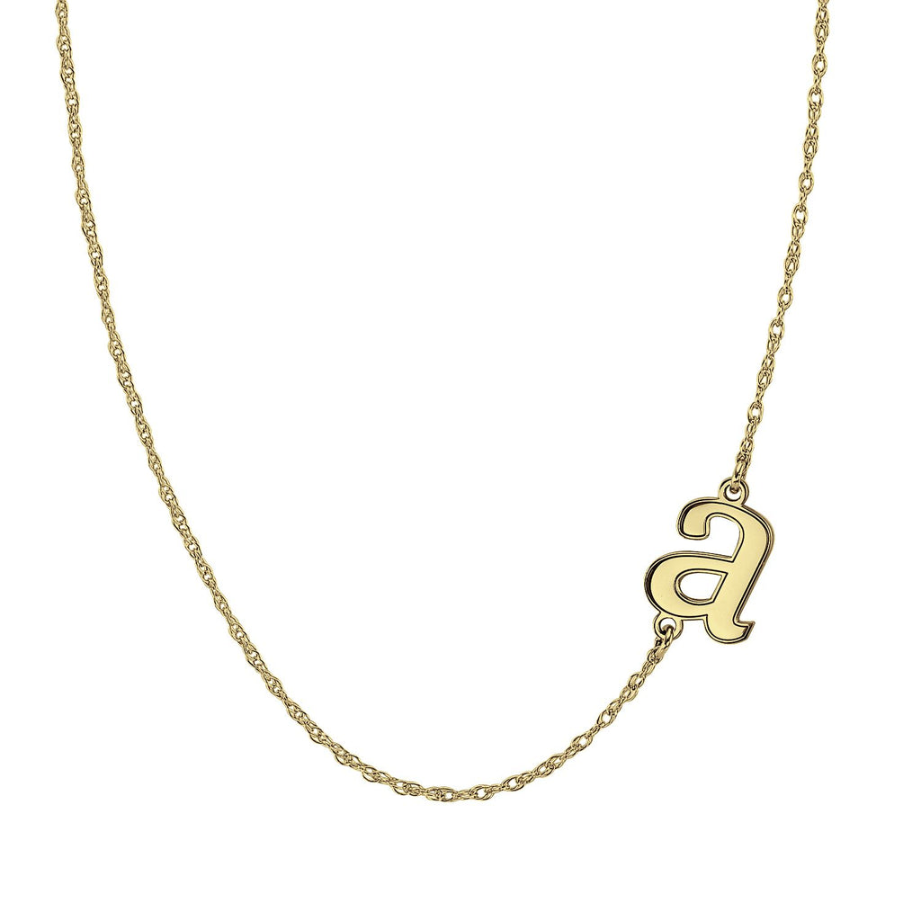Lowercase Sideways Initial Necklace