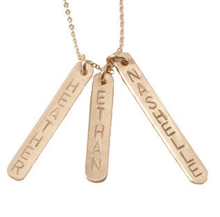 Personalized Lucky Bars Identity Necklace Jessica Simpson