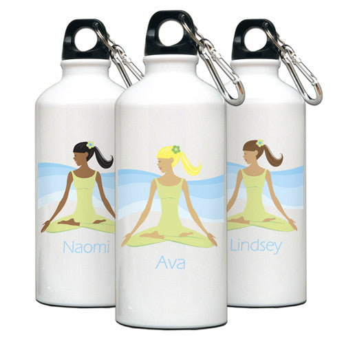 Personalized Water Bottle Meditate Gal