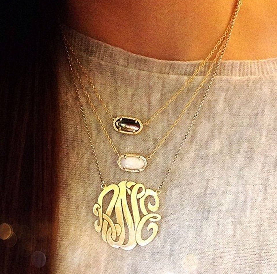 Gold Vermeil Monogram Necklace 11