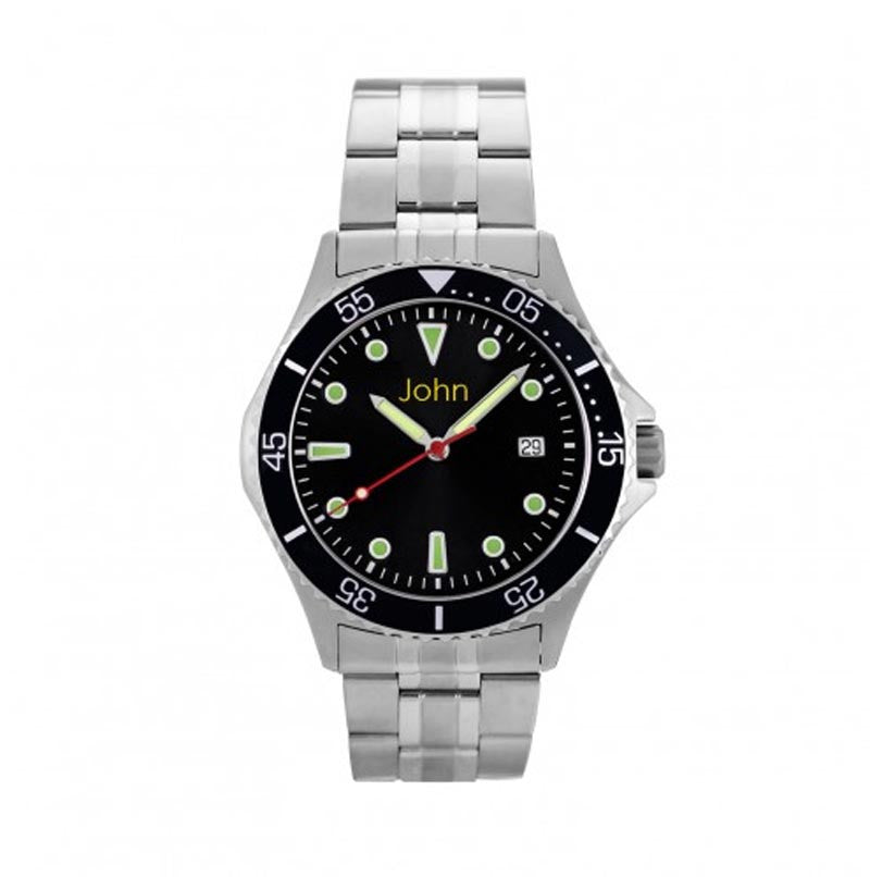 Personalized Mens Stainless Steel Watch