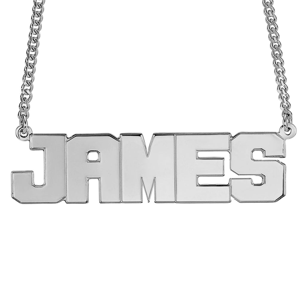 Mens Block Name Necklace 2