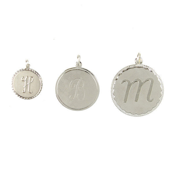 Vintage Initial Triple Charm Necklace 3