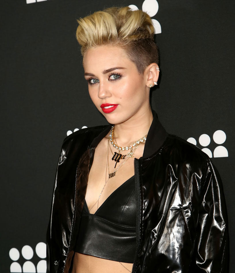 Miley Cyrus Gothic Initial Necklace