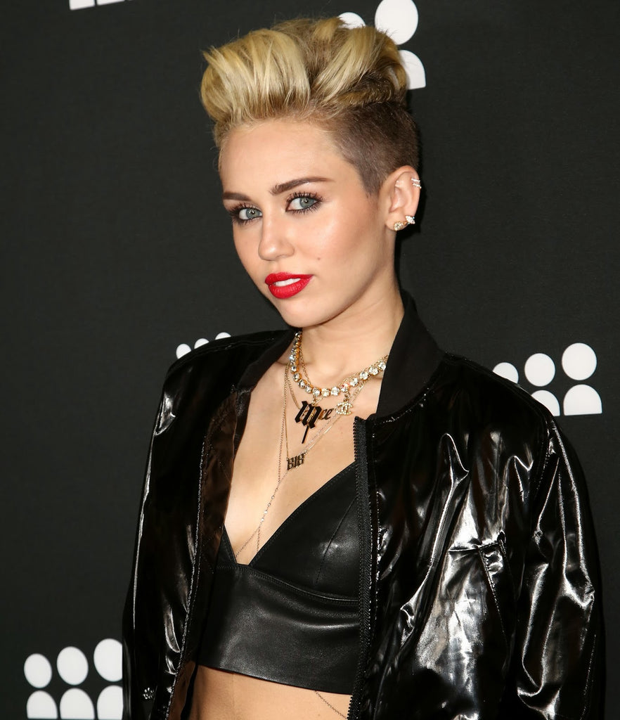 Miley Cyrus Initial Necklace