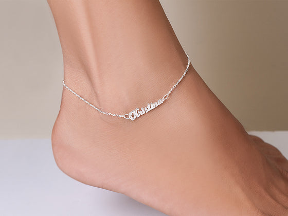 Mini Name Anklet Ankle Bracelet