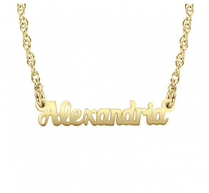 mini name necklace gold