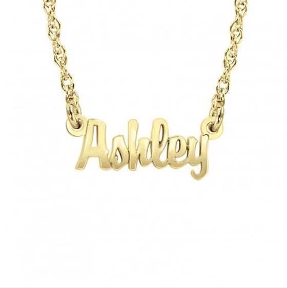 Mini Nameplate Necklace - Khloe Kardashian