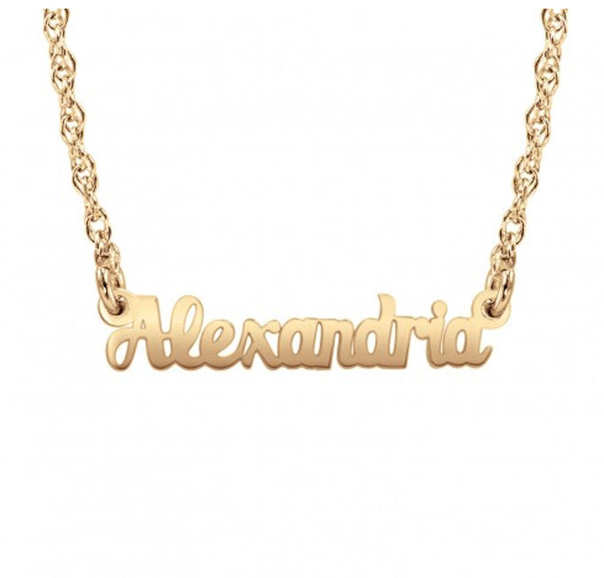 mini name necklace rose gold