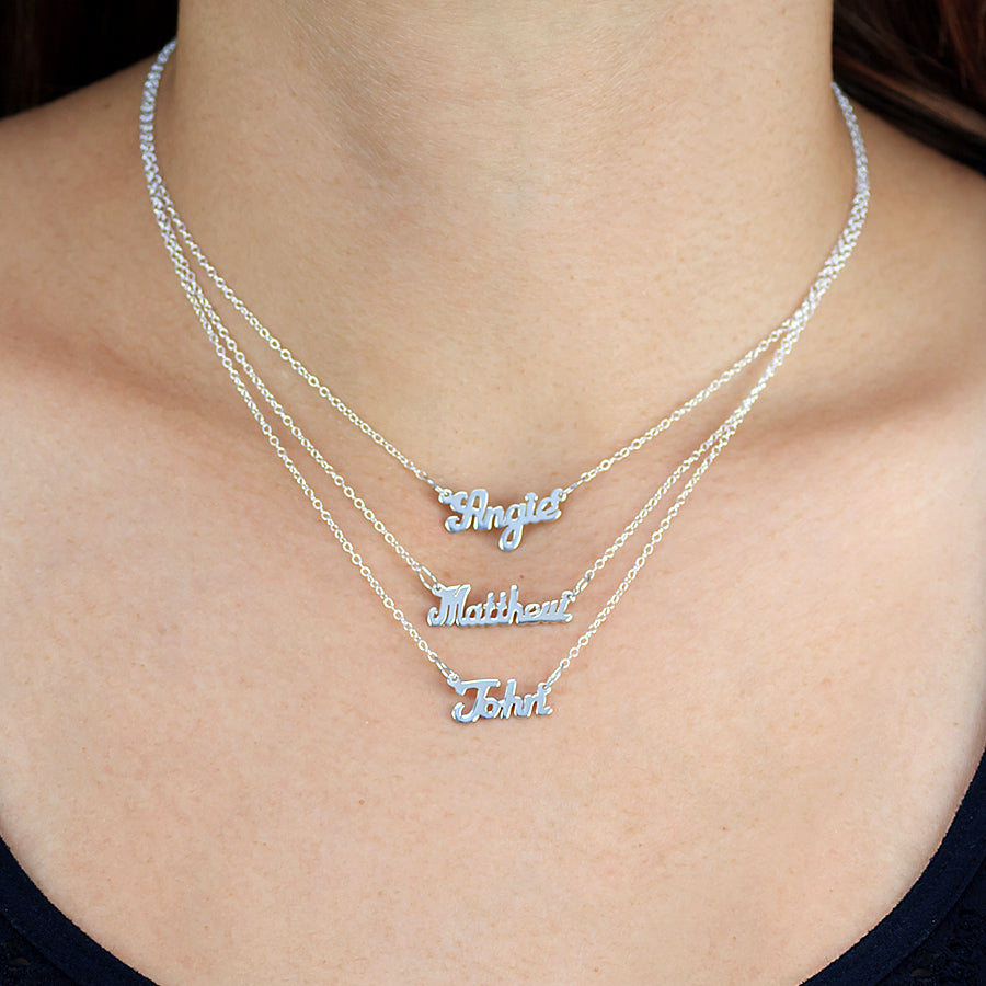 Custom Mini Script Name Necklace 2