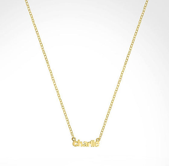 Custom Mini Name Necklace - Kourtney Kardashian