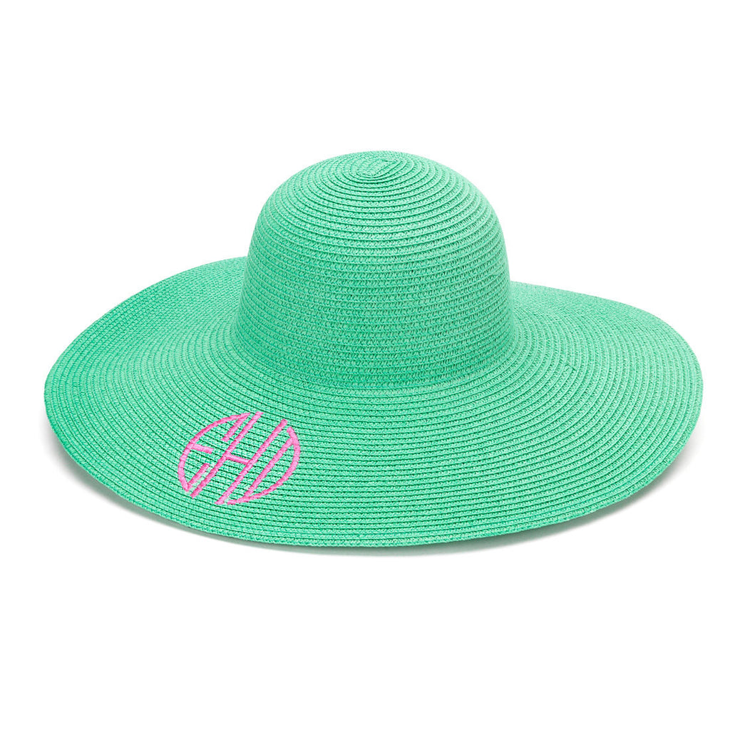 monogram sun hat mint