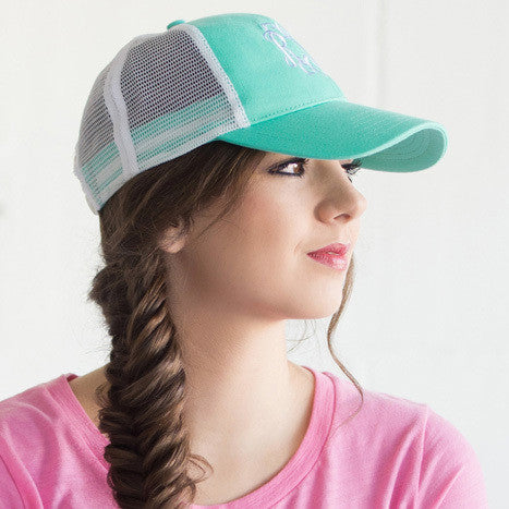 Monogram Trucker Hat - Mint 2