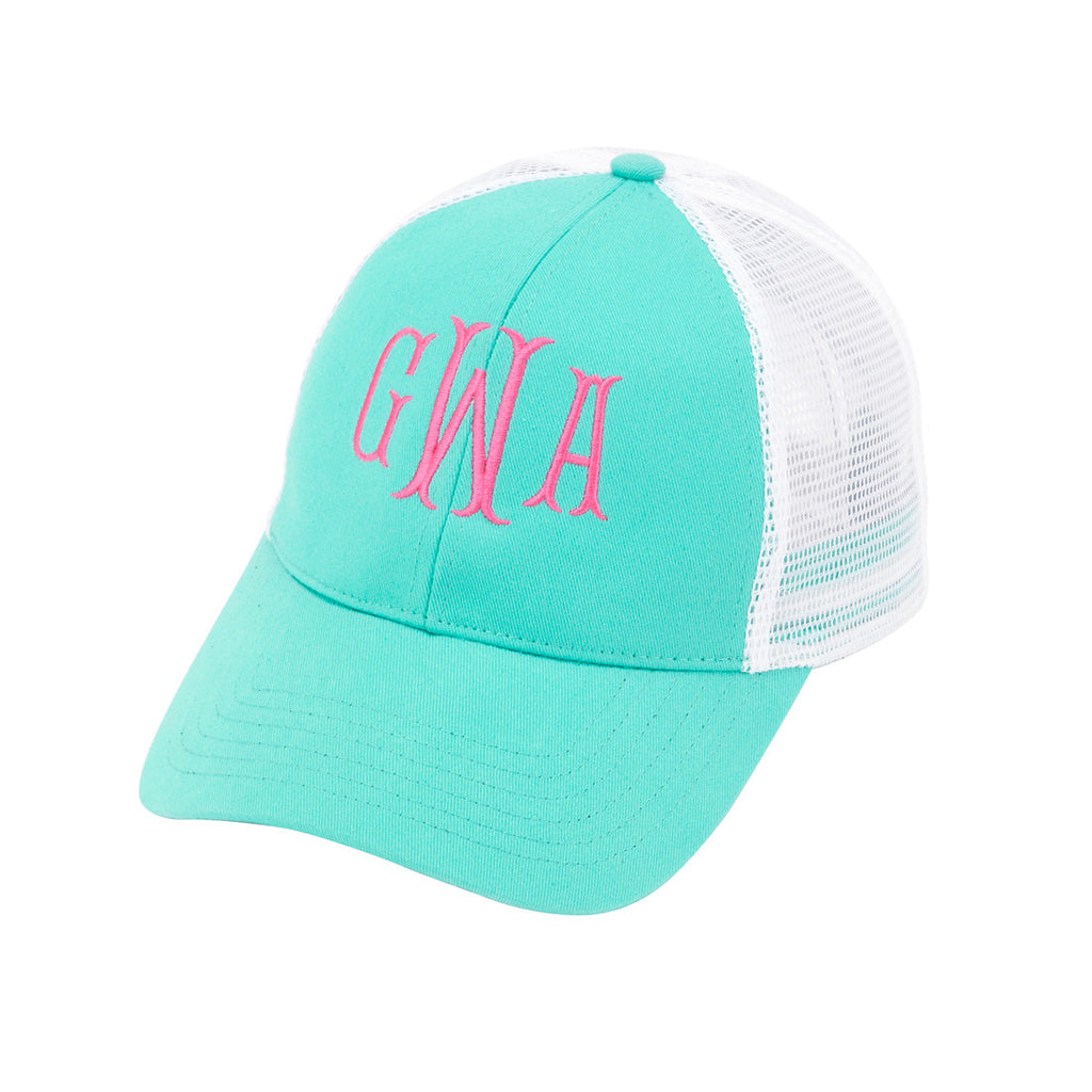 Monogram Trucker Hat - Mint