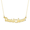 couples nameplate necklace