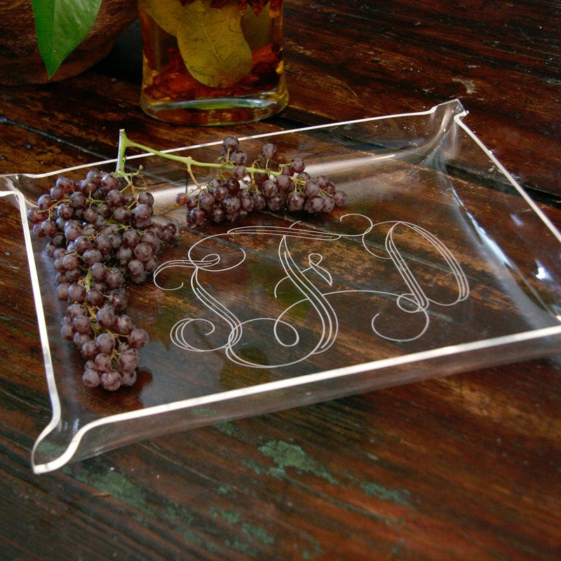 Monogrammed Acrylic Serving Tray 2