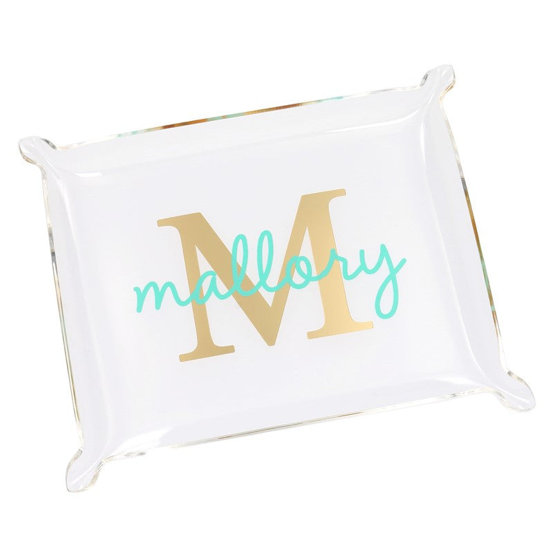 Small Monogram Acrylic Tray