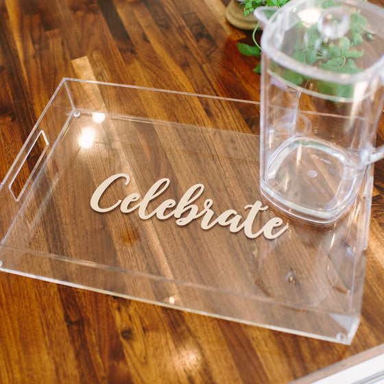Large Monogram Acrylic Tray with Vinyl