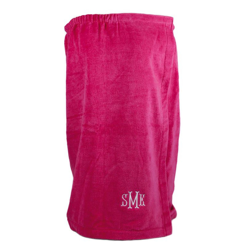 Personalized Bath Wrap-Hot Pink