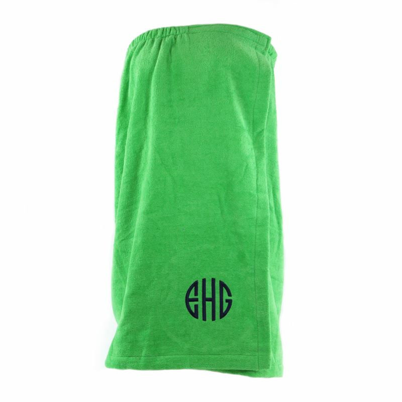 Personalized Bath Wrap-Lime Green