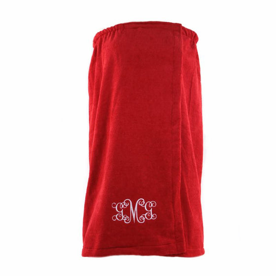 Personalized Bath Wrap-Red