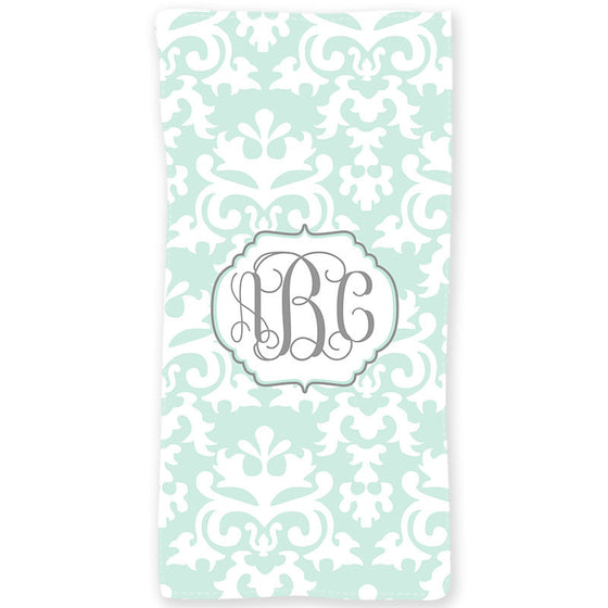 Personalized Beach Towel-Damask