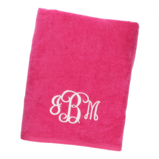 Personalized Fuchsia Beach Towel