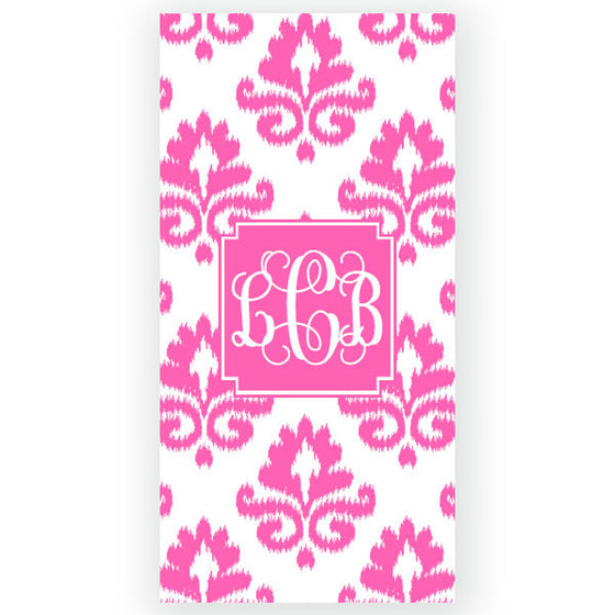 Personalized Beach Towel-iKat Damask