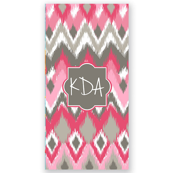 Personalized Beach Towel-Multi iKat Chevron