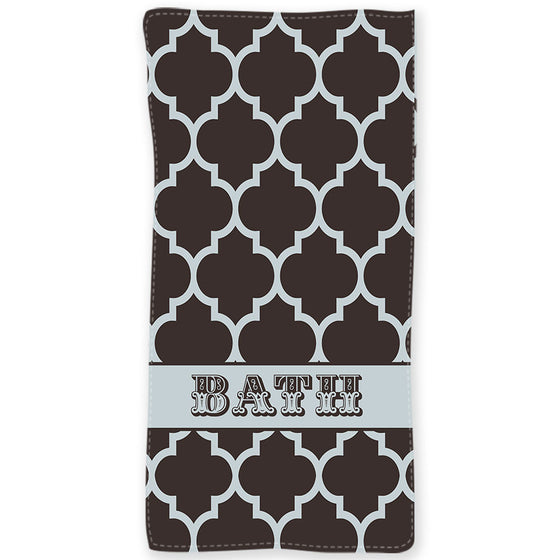 Personalized Beach Towel-Quatrefoil