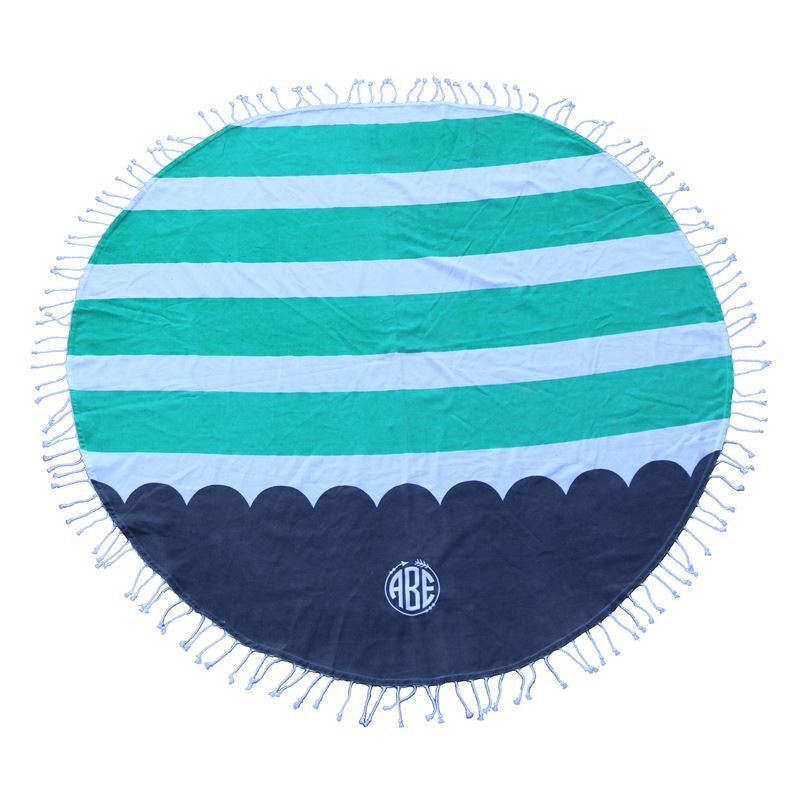 Monogrammed Round Beach Towel - 3 Colors