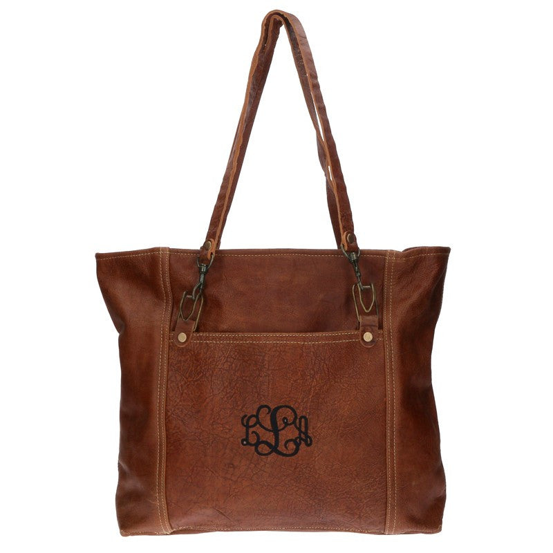 Monogram Rustic Leather Carryall