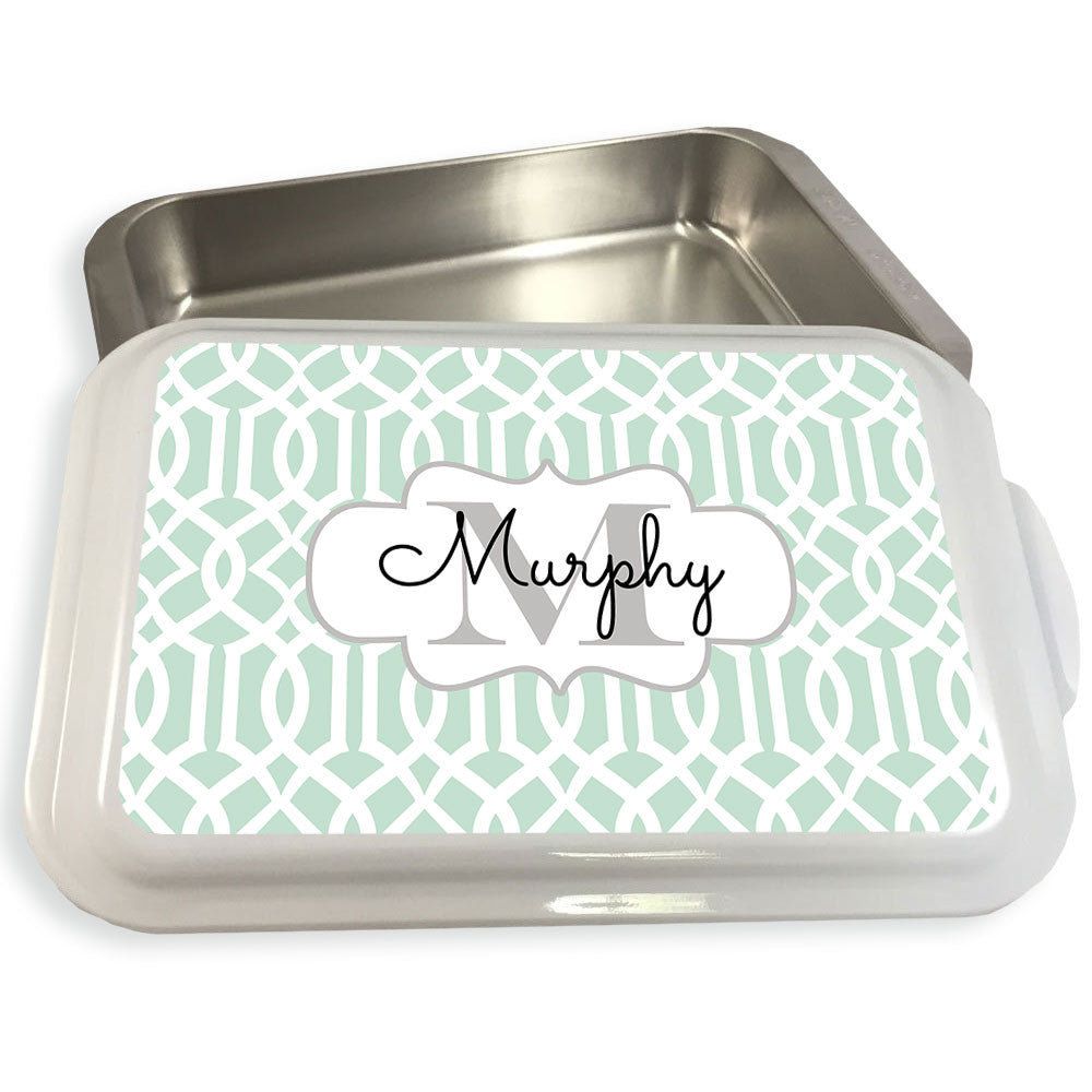 Monogrammed Casserole Dish-Lattice