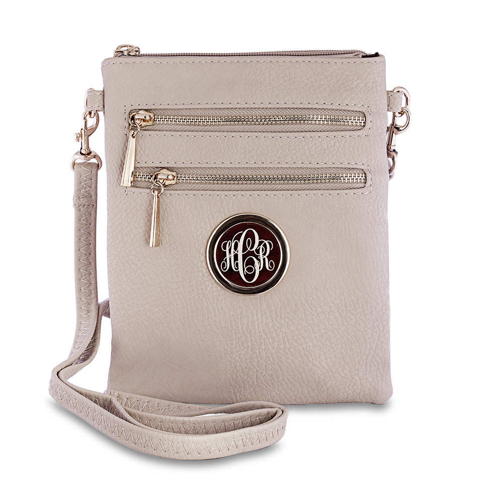 monogram crossbody bag - cream