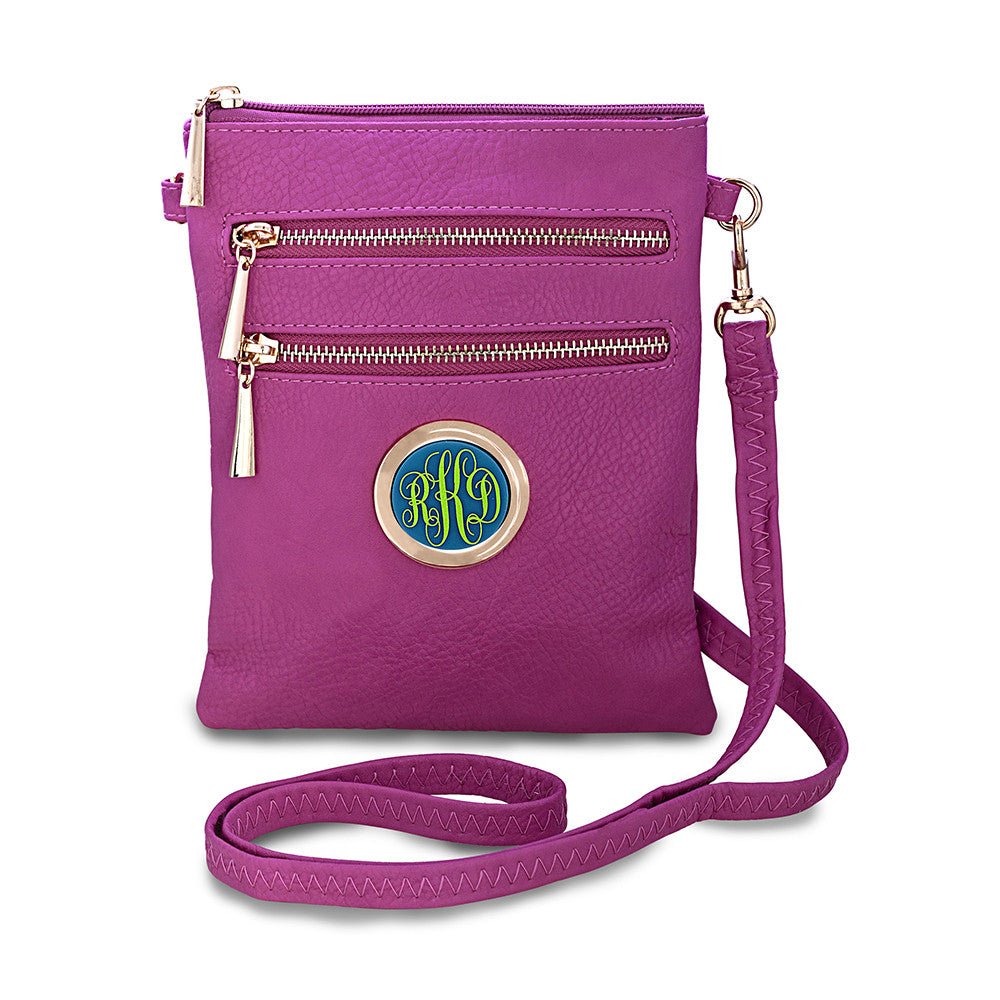 monogram crossbody bag - pink
