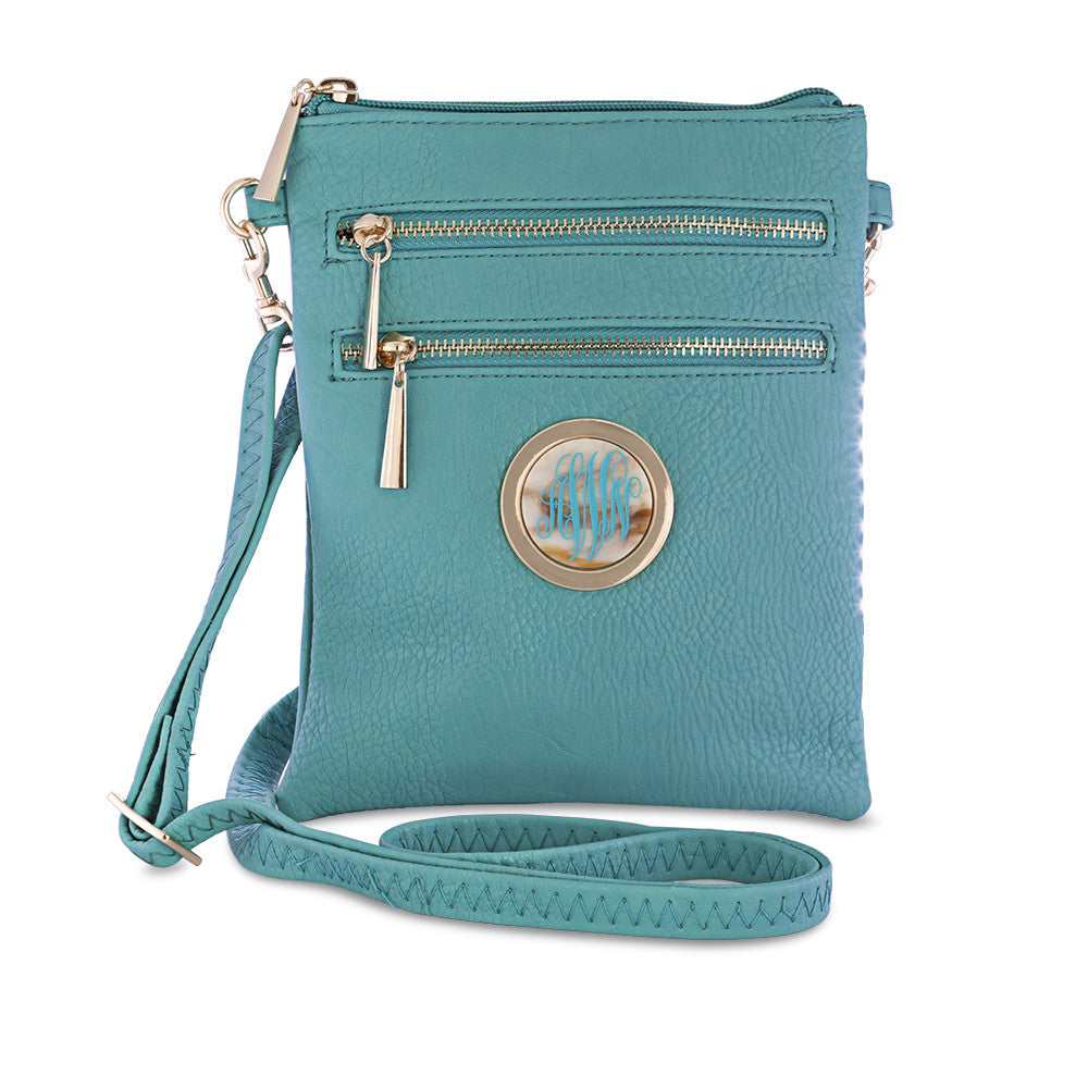 monogram crossbody bag - blue