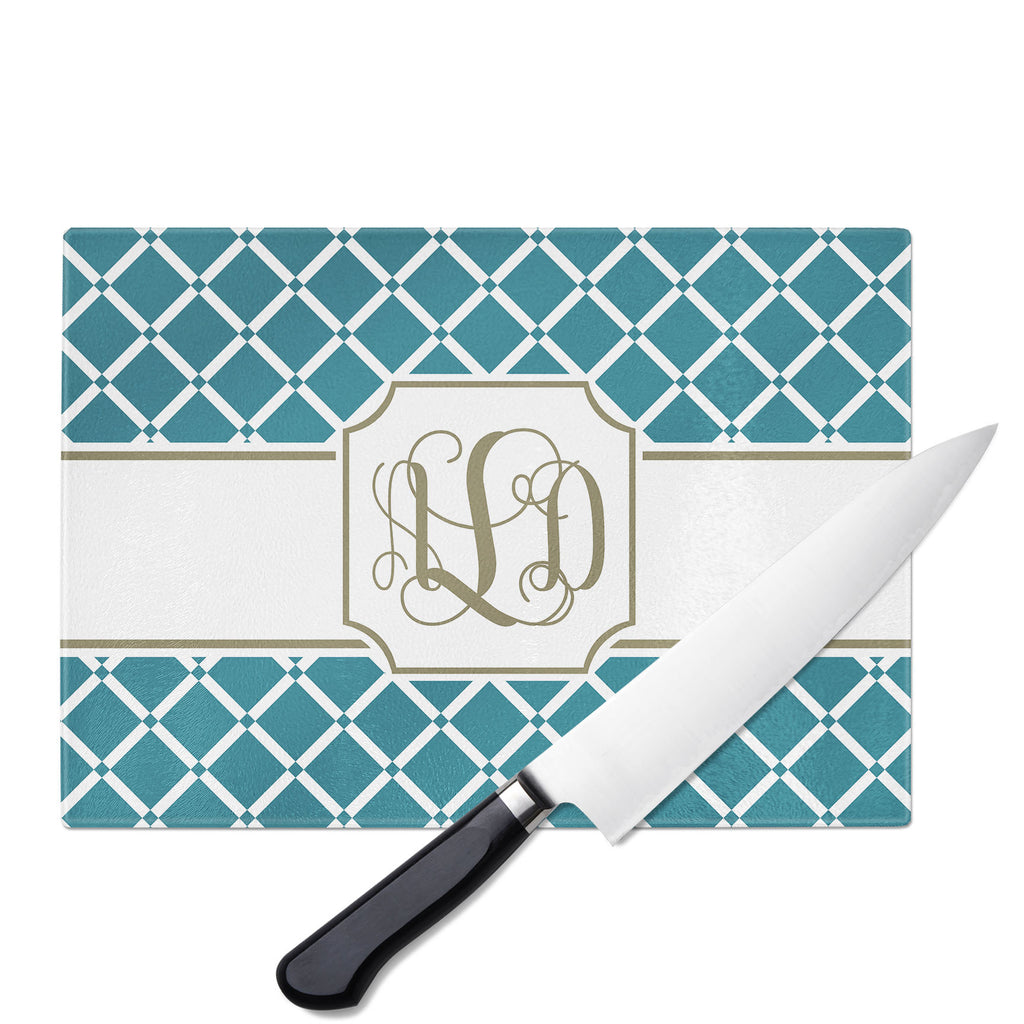 Personalized Glass Cutting Board-Bamboo