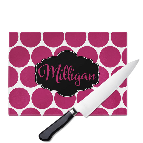 Personalized Glass Cutting Board-Dots