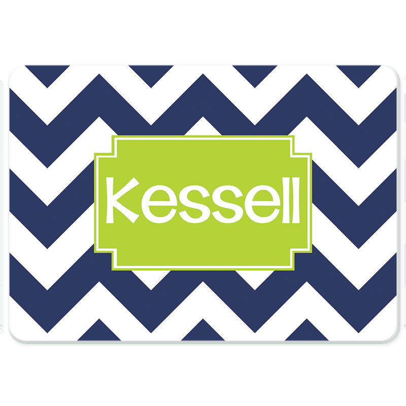 Personalized Glass Cutting Board-Jumbo Chevron 2