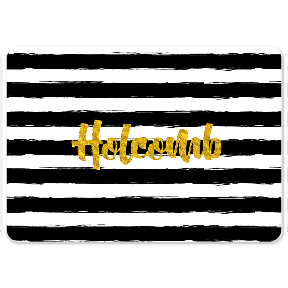 Personalized Glass Cutting Board-Painted Stripes 2