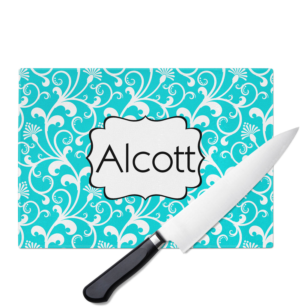 Personalized Glass Cutting Board-Parisian