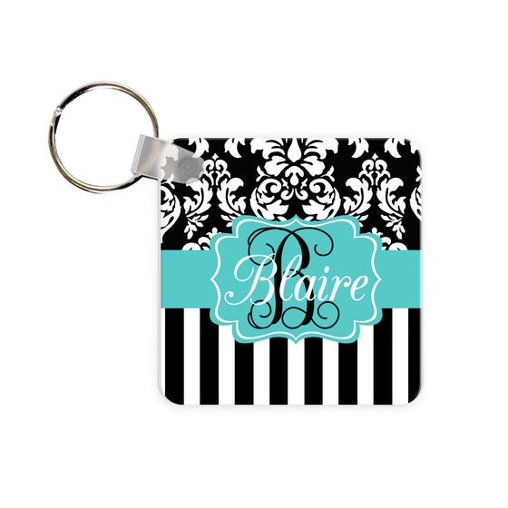 Monogram Key Chain - Preppy Gold