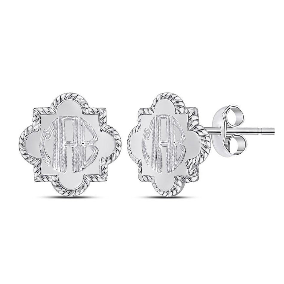 Monogram Quatrefoil Stud Earrings