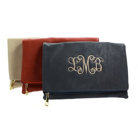 Monogram Foldover Clutch